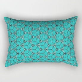 Hexagon Pattern Throw Pillow